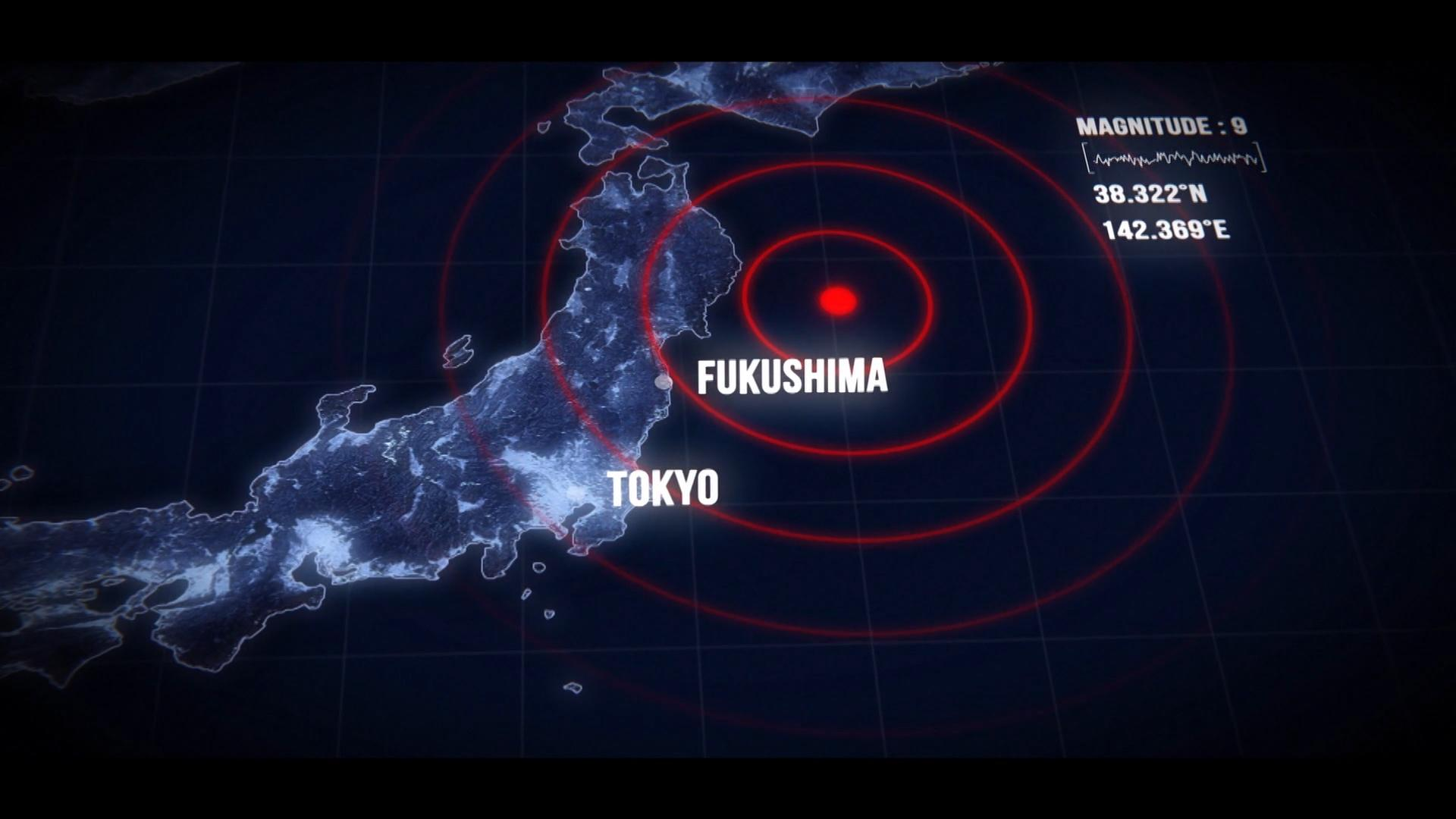 The Tohuku earthquake struck just off Japan. This triggered a tsunami which caused the nuclear meltdown at Fukushima.